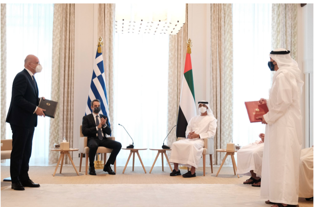 GREECE / UAE: Signed aggrement on Joint Cooperation in Defense and Foreign Affairs