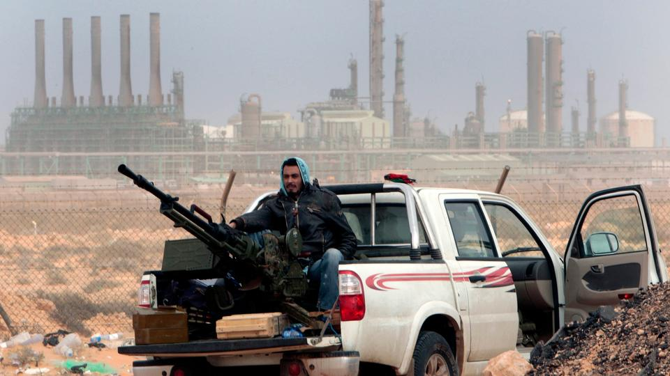 LNA occupied camp next to the Libyan oil fields