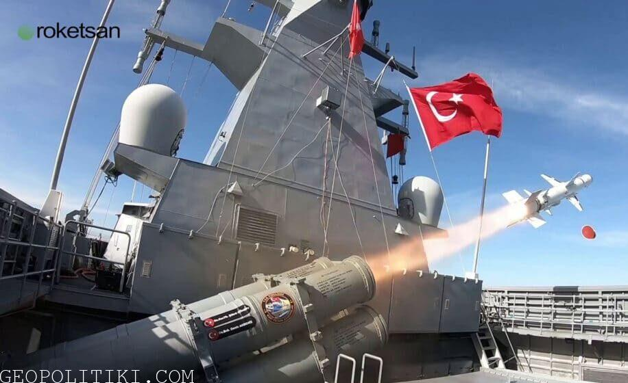 Turkish navy test fired anti-ship Atmaca in the Black Sea