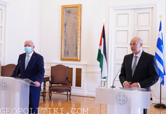 Greek Minister for Foreign Affairs met with Palestinian counterpart