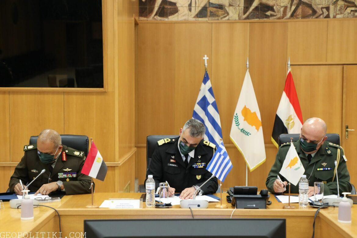 Greece, Egypt and Cyprus sign boost of military co-operation