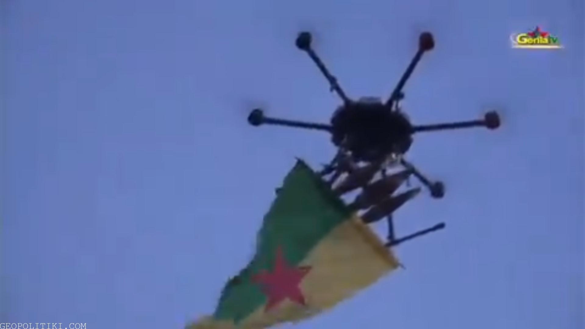 BREAKING: Kurds Released Footage Of Drone Strike Against Turkish Base