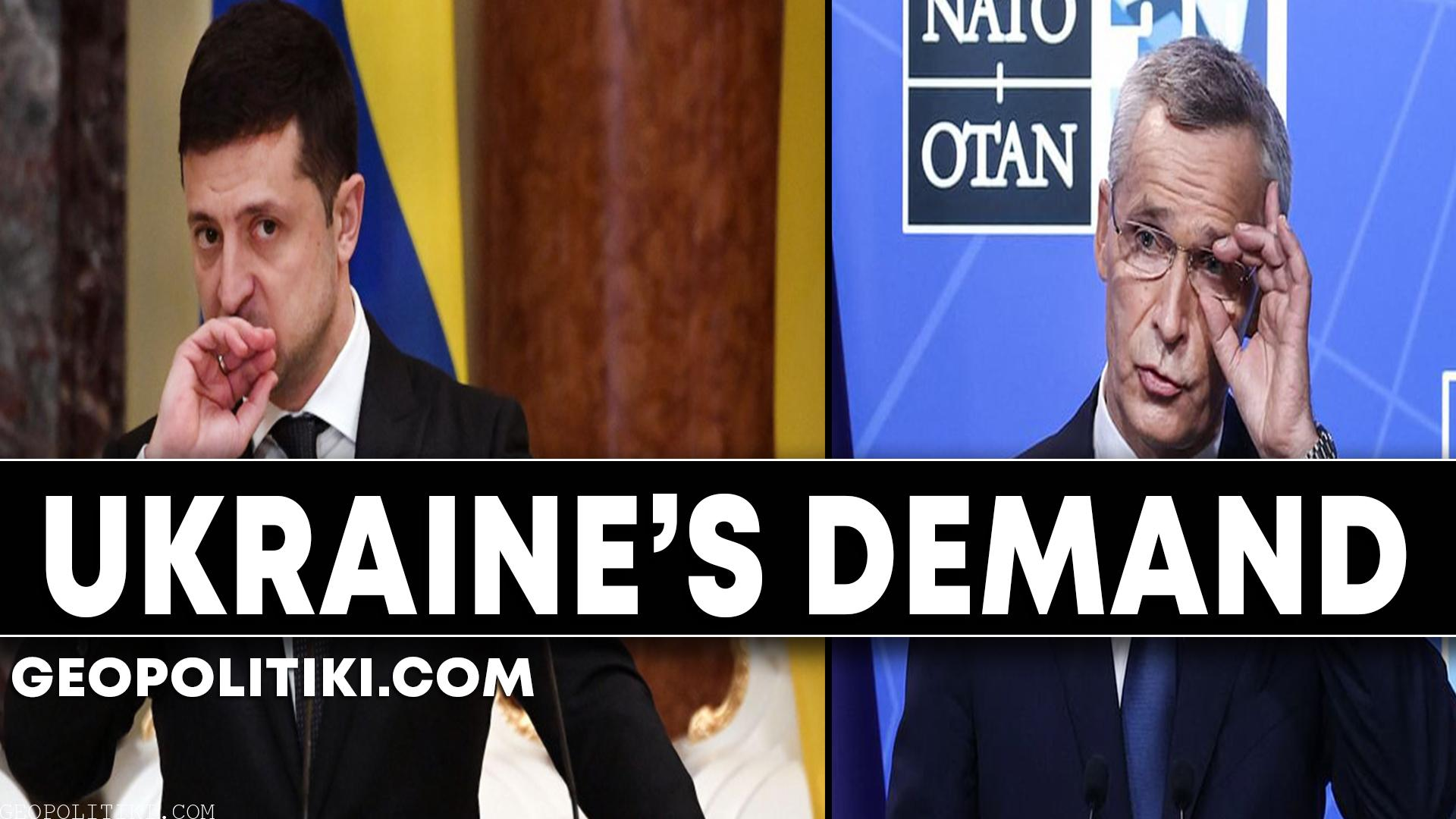 """UKRAINE'S DEMAND: """"We should not ask NATO to become member-state"""""""